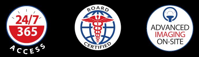 emergency department board certified badges