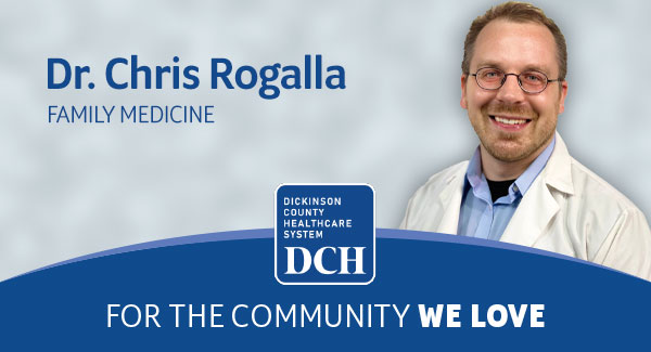 DCH Expands Family Medicine Team with Addition of Dr. Christopher Rogalla